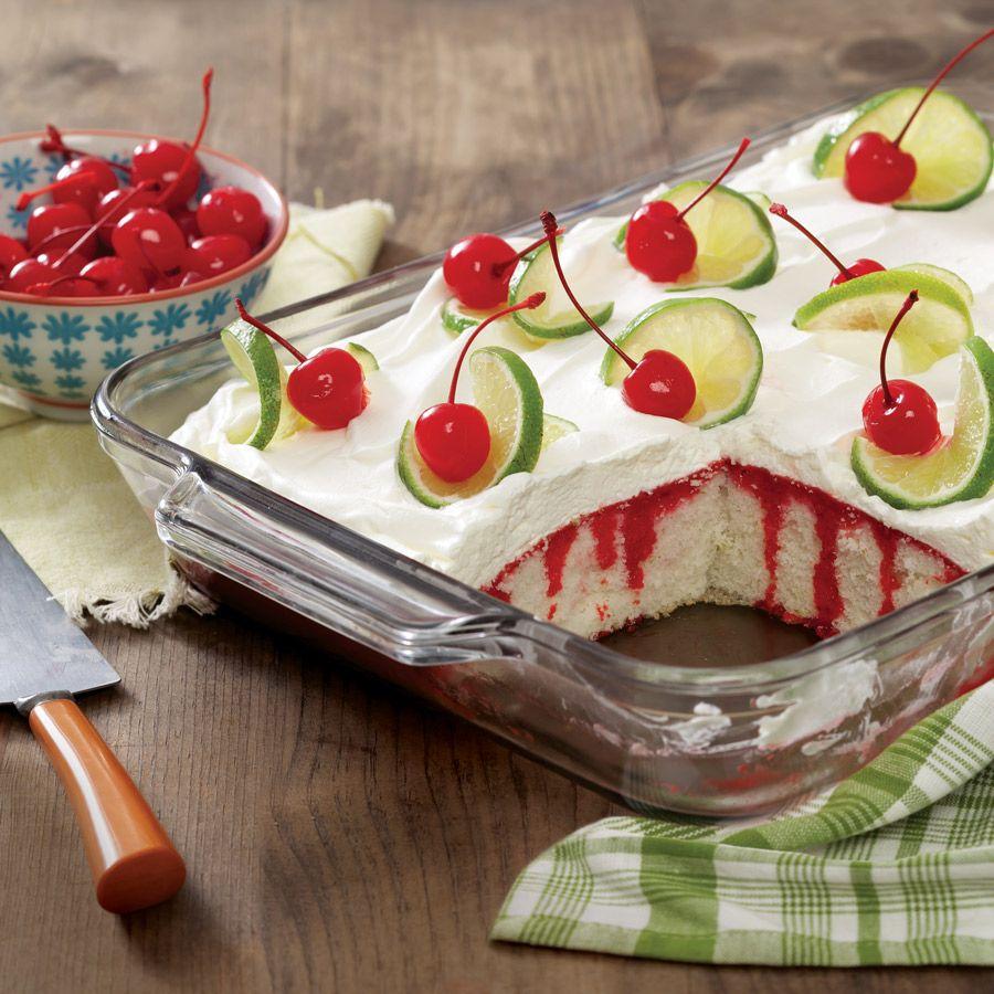 Фисташковый торт с вишней