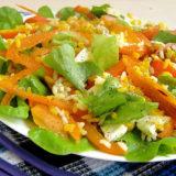 Салат с хурмой адыгейским сыром и тыквой