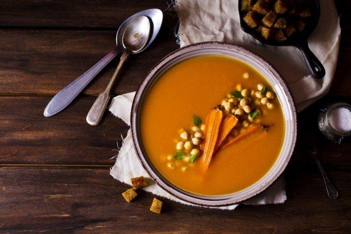 Морковный крем- суп с имбирём