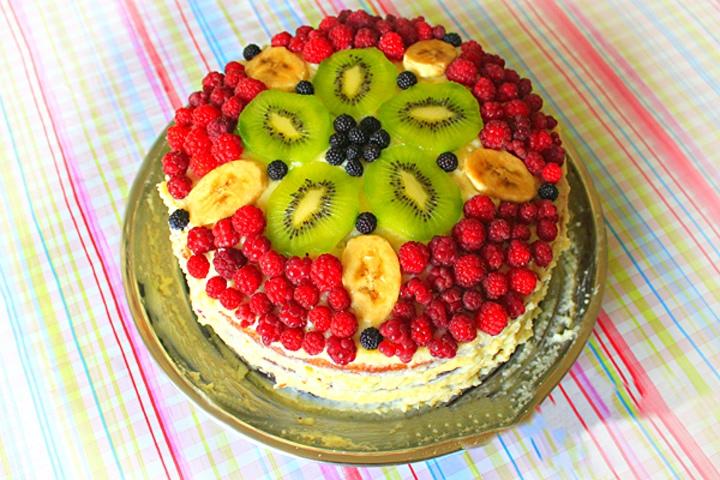 Торт с манным кремом