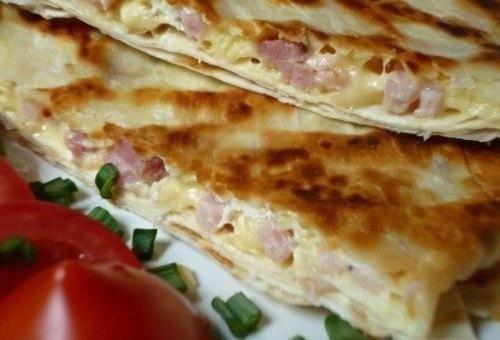 Ёка- гениальный сырный омлет в лаваше