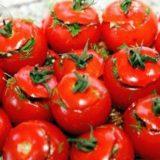 Малосольные помидоры по-армянски (с чесноком)