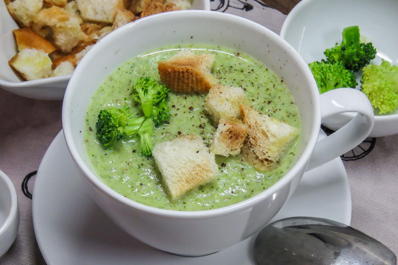 Сливочный суп из брокколи