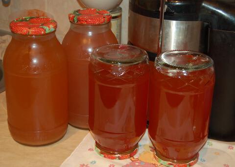 Домашний яблочно-виноградный сок (обновленный)