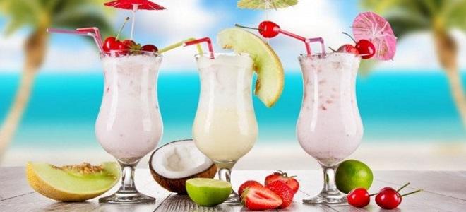 Безалкогольный молочный коктейль