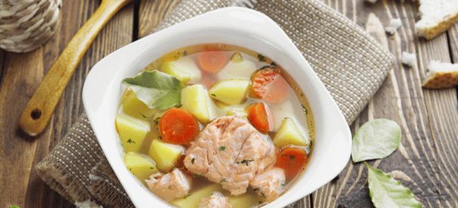 Рыбный суп из семги