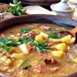 Суп с тушенкой и пшеном