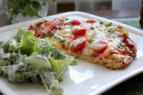 Картофельная пицца на ужин