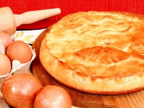 Сливочный пирог с картофелем и рыбой
