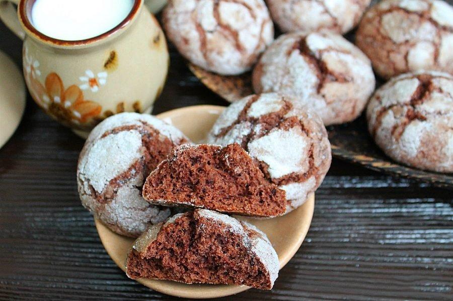 Мраморное печенье к семейному чаепитию
