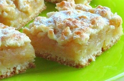 Яблочно лимонный пирог