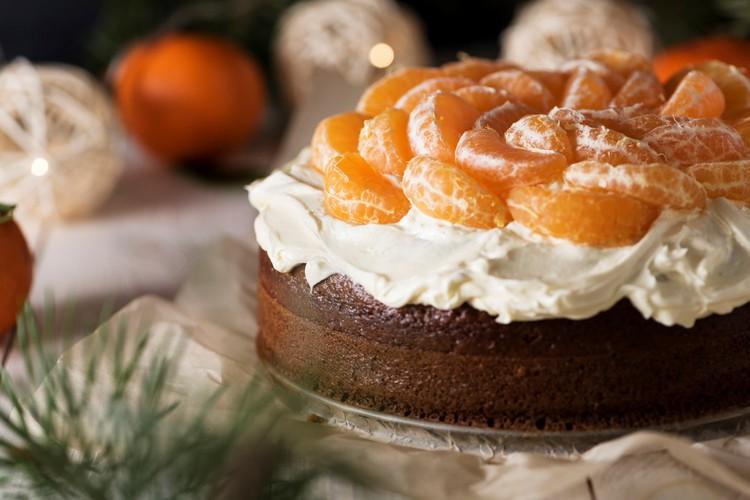 Вкусный праздничный мандариновый торт