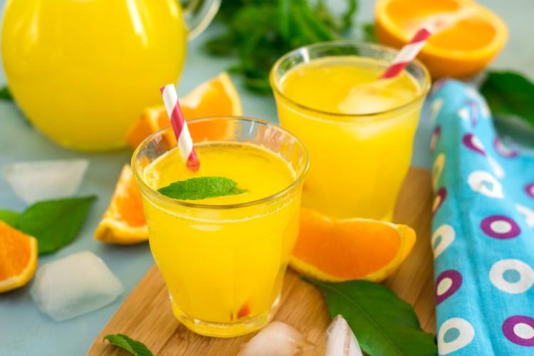Апельсиновый лимонад без сахара