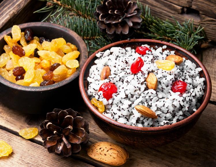 Кутья с рисом и маком на Рождество