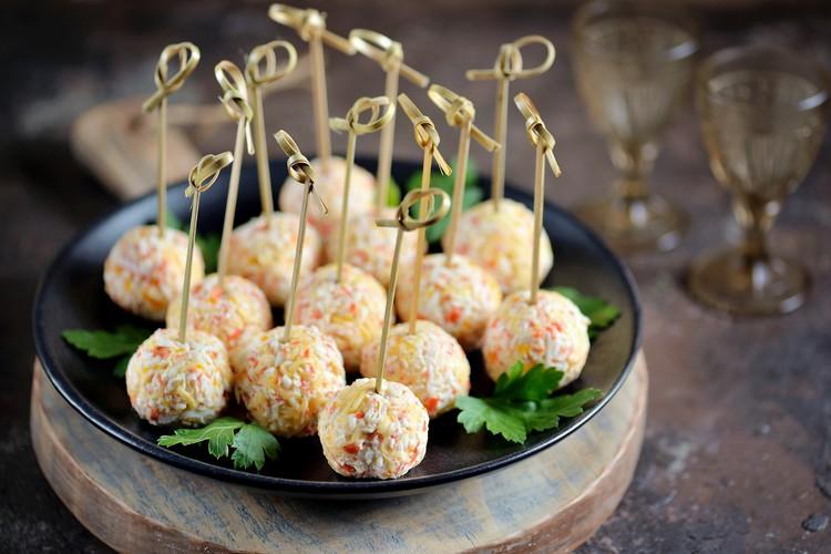 Крабовые шарики с сыром