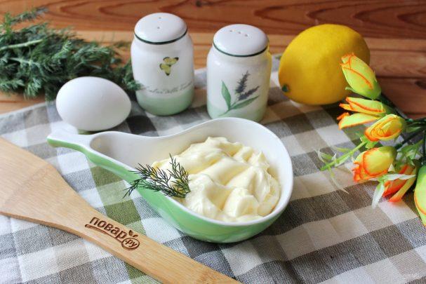 Домашний майонез с лимонной кислотой