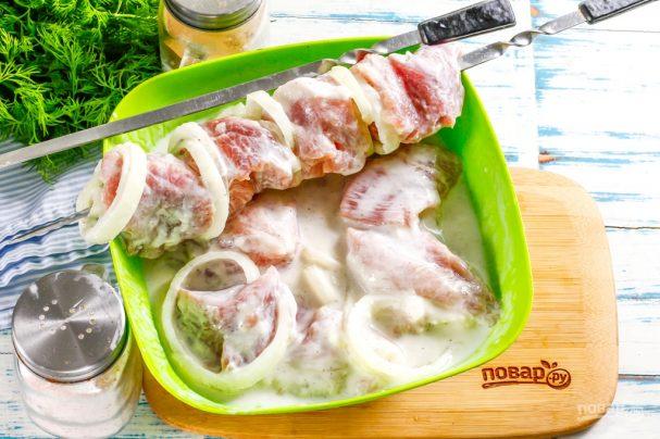 Маринование шашлыка из свинины