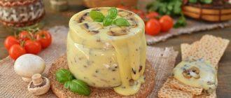 Домашний плавленый сыр с шампиньонами — это нереальная вкуснятина