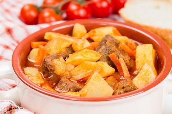 Картошка, тушенная с мясом, как в детском саду