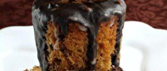 Мраморный кулич с шоколадно-кофейной глазурью