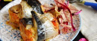 Рулеты из скумбрии с сыром и овощами