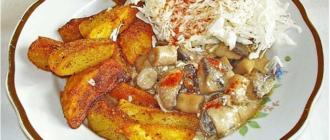 Картофель по деревенски простой рецепт!
