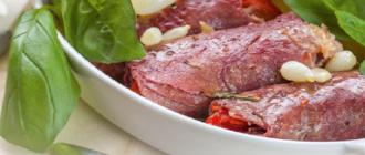 Рецепт мясных рулетиков