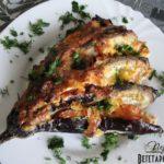 Баклажаны с сыром и чесноком - Баклажанный веер
