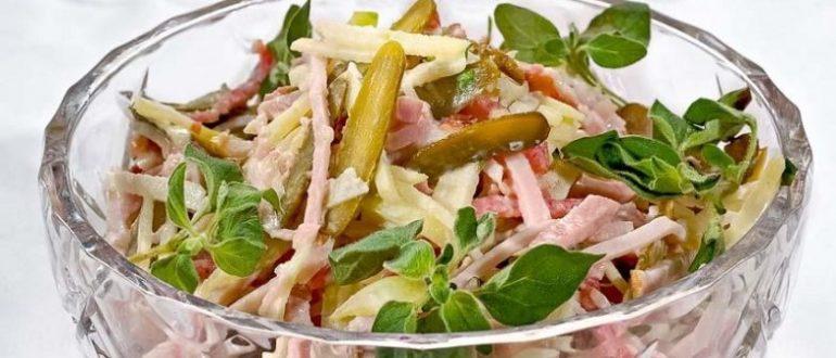 Добротный сытный салат понравится всем без исключения, особенно его оценят мужчины.