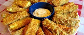 Кабачки в хрустящей сырной панировке