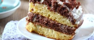Нежный и вкусный тортик на кефире