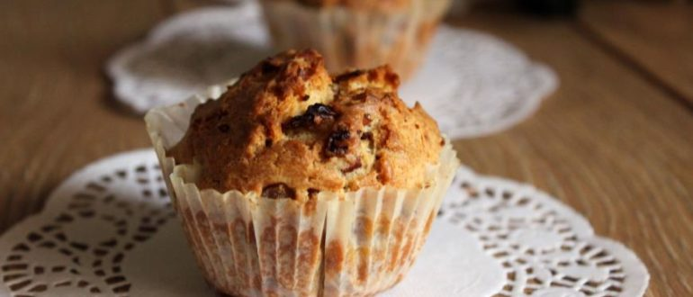 Попробуйте приготовить вкуснейшие закусочные кексы с беконом и красным луком!