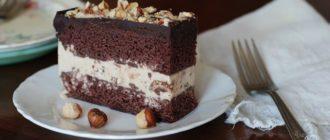 Шоколадно-ореховый торт-мороженое