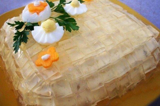 «Хрустальный салат» с куриным филе и картофелем
