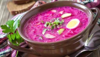 Латышский холодный суп на кефире