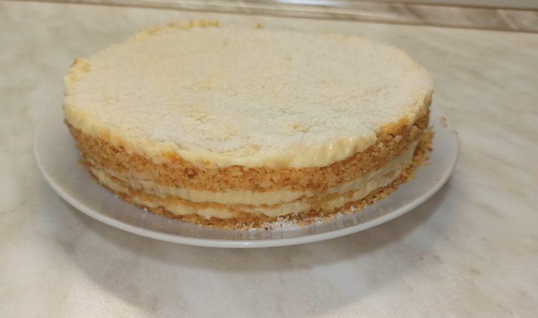 Нежный торт «Пломбир» без выпечки