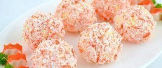 Удивительное решение простого салата «Крабовые шарики»!