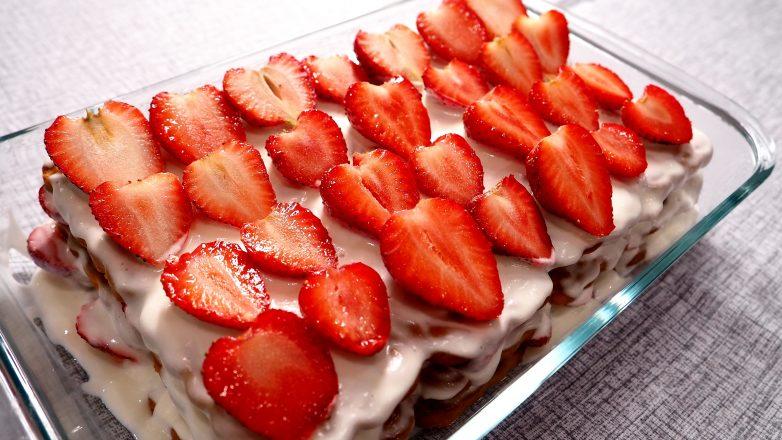 амый простой рецепт клубничного торта без выпечки