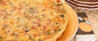 Лоранский пирог с курицей, грибами и брокколи, почти как пицца!