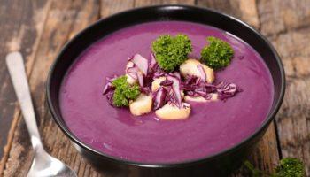 Самый вкусный: Суп-пюре из краснокочанной капусты