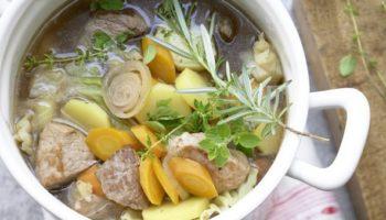 Густой немецкий суп «Пихельштайнер»