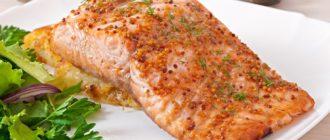 Запеченный лосось с медом и горчицей