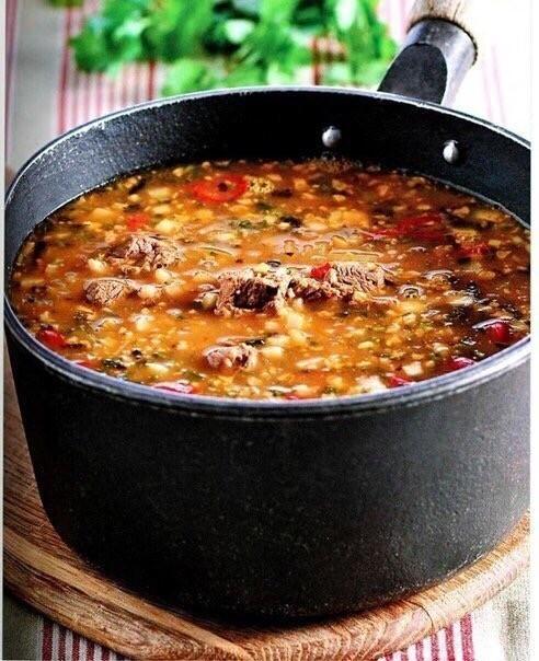 Острый суп Харчо - блюдо грузинской кухни