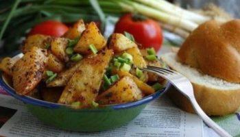 Запеченный картофель по турецки