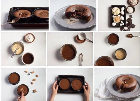 Шоколадный фондан с карамелью