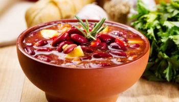 Шешамади – суп из красной фасоли по-грузински