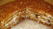 Медовый торт «Особенный» с черносливом