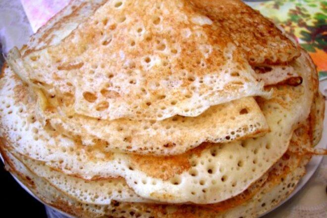 Особый рецепт блинов без использования дрожжей, яиц