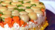 Отличный рецепт приготовления праздничного салата с курицей
