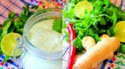 Универсальный соус по рецепту Джейми Оливера с кинзой, чили, имбирем и лаймом